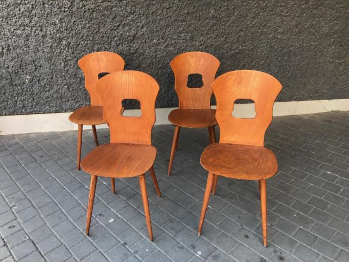 2 sillas baumann a os 60 francia 41x41x89 cms - Sillas anos 60 ...