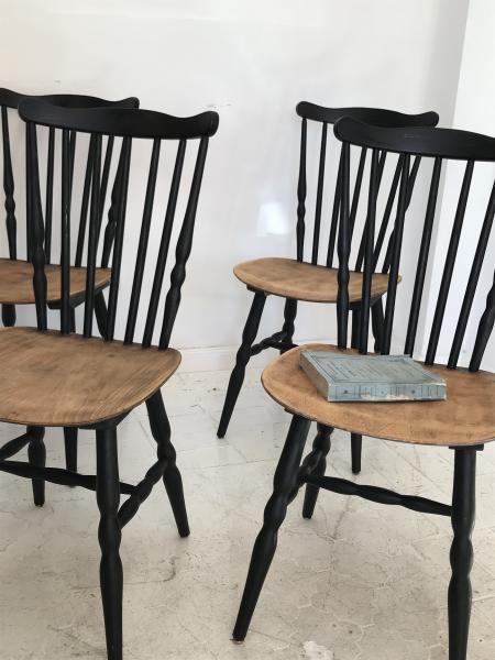 2 sillas bistrot a os 60 francia haya 42 x 85cm - Sillas anos 60 ...