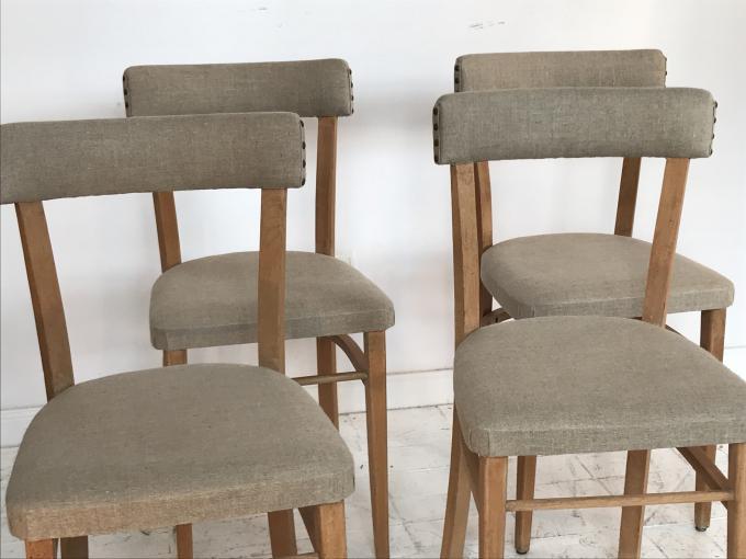 4 sillas a os 60 espa a haya y lino 40x40x82 cms - Sillas anos 60 ...